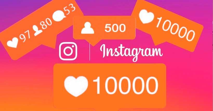 icones do Instagram representando muitas curtidas e interações.